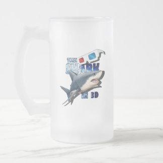 Der Haifisch-Film Mattglas Bierglas