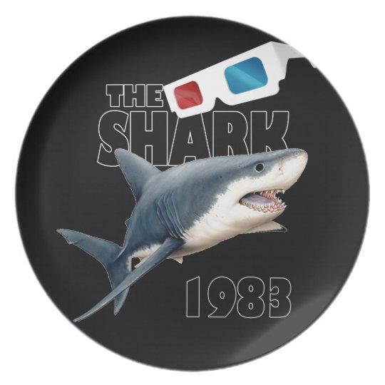 Der Haifisch-Film Melaminteller
