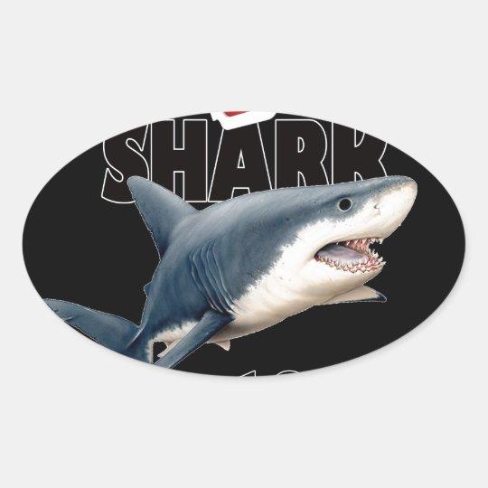 Der Haifisch-Film Ovaler Aufkleber