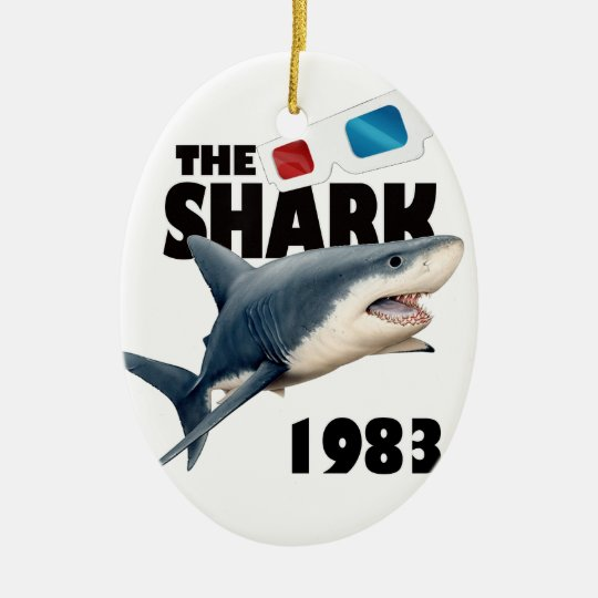 Der Haifisch-Film Ovales Keramik Ornament