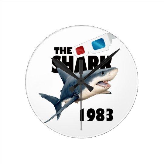 Der Haifisch-Film Runde Wanduhr