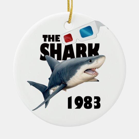 Der Haifisch-Film Rundes Keramik Ornament