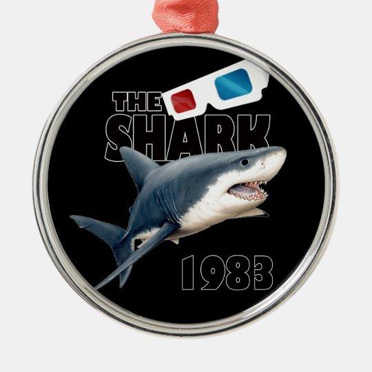 Der Haifisch-Film Rundes Silberfarbenes Ornament