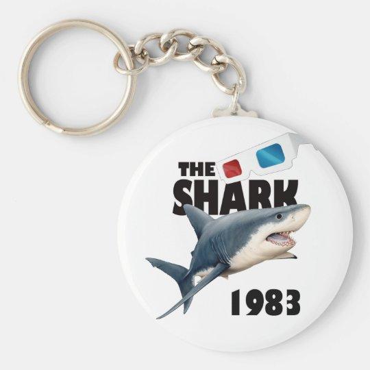 Der Haifisch-Film Standard Runder Schlüsselanhänger