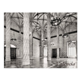 Der Hall der Spalten in Valencia Postkarte