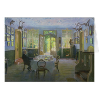 Der Hall des Herrenhauses in Waltershof, 1894 Karte