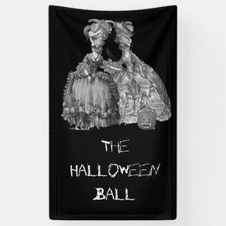 Der Halloween-Ball (auf Schwarzem) Banner