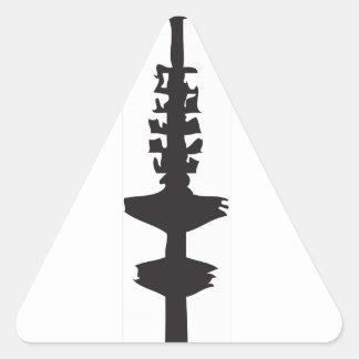 Der Hamburger Fernsehturm Dreieckiger Aufkleber