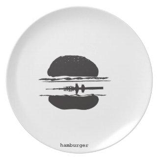 Der Hamburger Flache Teller