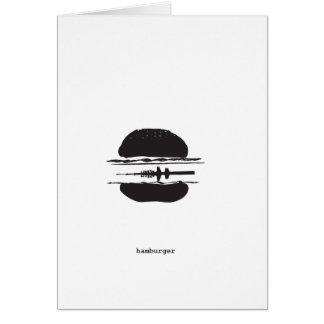 Der Hamburger Grußkarte