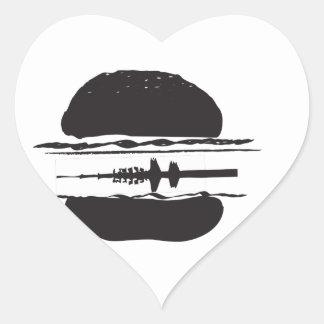 Der Hamburger Herz-Aufkleber