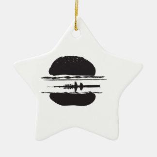 Der Hamburger Keramik Stern-Ornament
