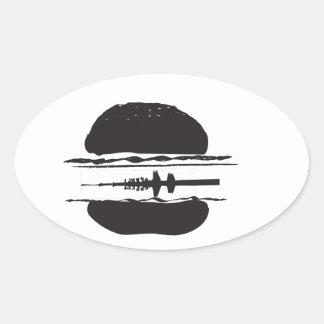 Der Hamburger Ovaler Aufkleber