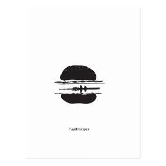 Der Hamburger Postkarte