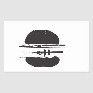 Der Hamburger Rechteckige Sticker