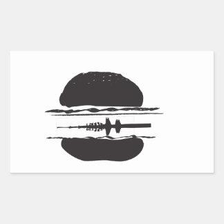 Der Hamburger Rechteckiger Aufkleber