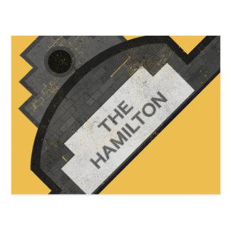 der Hamiltonsignage Postkarte