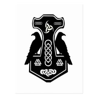 Der Hammer heidnischen keltischen Postkarte