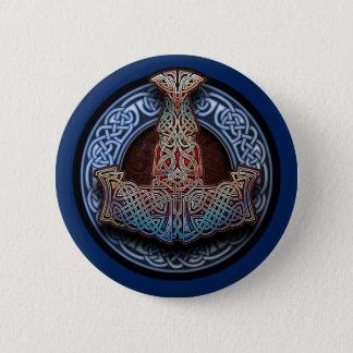 Der Hammer-runder Knopf des Thors Runder Button 5,7 Cm