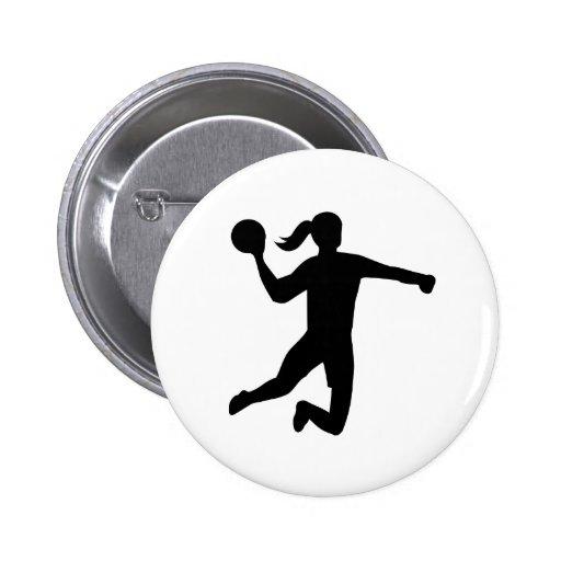 Der Handball der Frauen Button