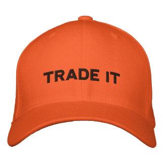 Der Händler-Hut - Aktien, Wahlen, Devisen, Zukunft Bestickte Kappe