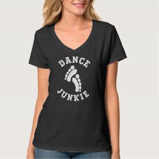 Der Hanes der Tanz-Junkie-Frauen Nano-V-Hals T - Tshirts