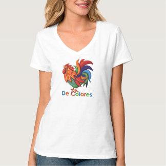 Der Hanes Frauen De Colores Rooster V-Hals T - T-Shirt