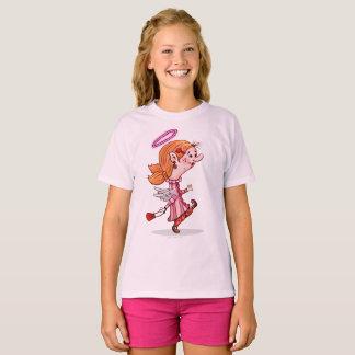 Der Hanes TAGLESS® LULU-ENGEL Mädchen T - Shirt