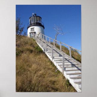 Der Hauptleuchtturm der Eule, Maine Poster