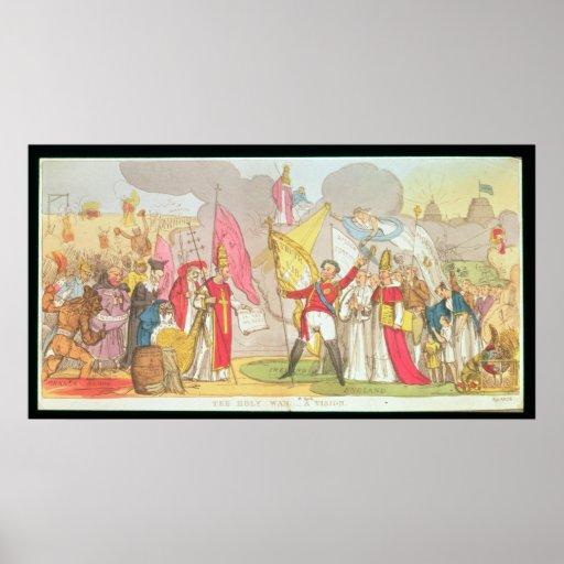 Der heilige Krieg - eine Vision, satirical Cartoon Poster