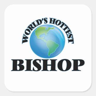 Der heißeste Bischof der Welt Quadrat-Aufkleber