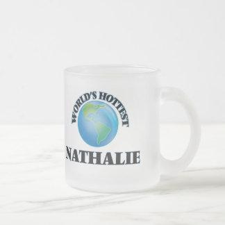 Der heißeste Nathalie der Welt Matte Glastasse
