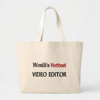 Der heißeste Videoherausgeber der Welt Jumbo Stoffbeutel
