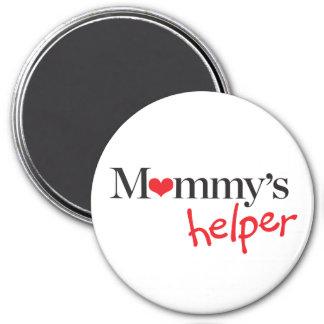 Der Helfer der Mama Runder Magnet 7,6 Cm