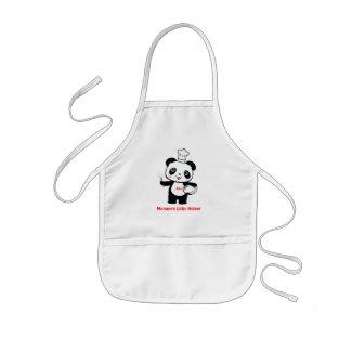 Der Helfer-Panda-KinderSchürze der Kinderschürze