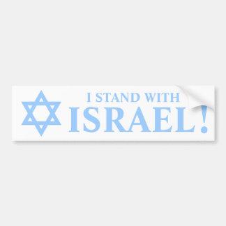Der hellblaue Davidsstern Pro stehe ich mit Israel Autoaufkleber