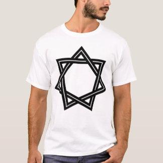 Der helle T - Shirt stumpfer Heptagram Männer