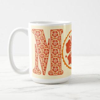 Der Hennastrauch-der Blumenmuster-der Mutter der Kaffeetasse