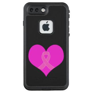 Der Herz-und Band-Brustkrebs-Wohltätigkeit-Entwurf LifeProof FRÄ' iPhone 8 Plus/7 Plus Hülle