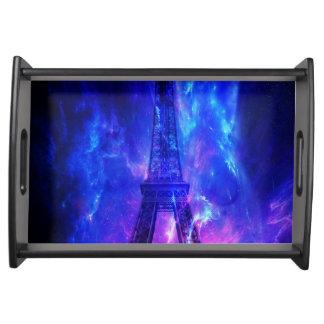 Der Himmels-Paris-Amethyst-Träume der Schaffung Tablett