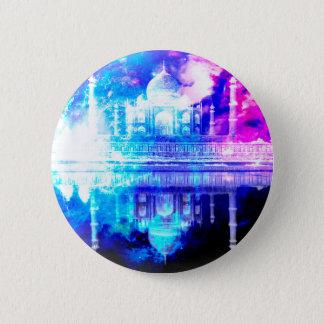 Der Himmels-Taj Mahal Träume der Schaffung Runder Button 5,1 Cm