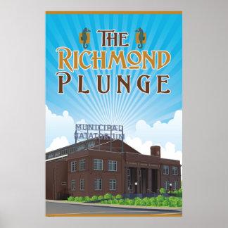 Der historische Richmond-KopfsprungNatatorium Poster