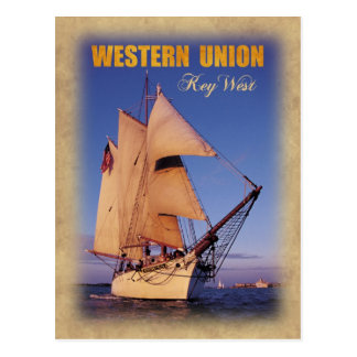 Der historische Western-GewerkschaftSchooner, Key Postkarte