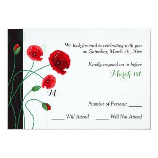 Der Hochzeit UAWG Karten-| Schwarzes 8,9 X 12,7 Cm Einladungskarte