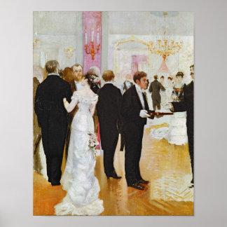 Der Hochzeits-Empfang, c.1900 Poster