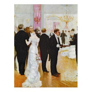 Der Hochzeits-Empfang, c.1900 Postkarte