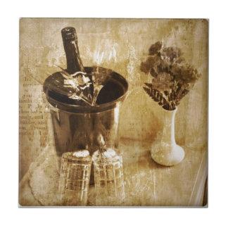 Der Hochzeitstag festliche Champagne des Fliese