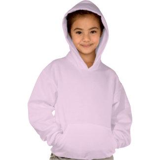 Der Hoodie des Mädchens mit Watercolorklee-Blätter