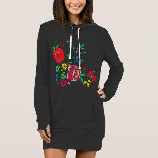 Der Hoodie-Kleid der Kalocsa Stickerei-Frauen Kleid