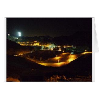 Der Hooverdamm bis zum Nacht Karte